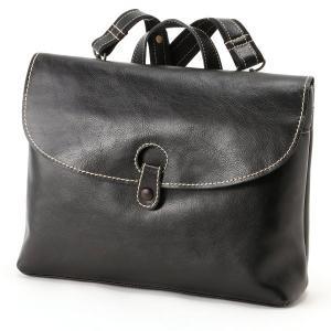301aa4b0c62d バッグ カバン 鞄 レディース リュック A4サイズ収納可能横型レザーリュック カラー 「ブラック」
