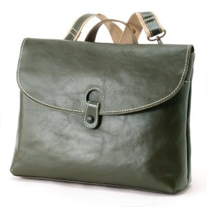99105c639715 バッグ カバン 鞄 レディース リュック A4サイズ収納可能横型レザーリュック カラー 「カーキ」