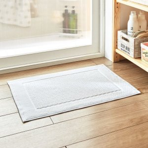 バスマット トルコ製厚みのあるタオルバスマット カラー 「ホワイト」の写真