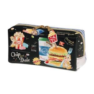 文房具 ステーショナリー チップ&デール 食べ物モチーフのペンケース カラー 「ジャンクフード」