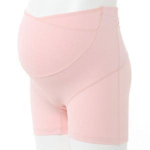 マタニティ 下着 インナー カシュクールらくばきパンツ妊婦帯 「ピンク」