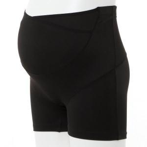 マタニティ 下着 インナー カシュクールらくばきパンツ妊婦帯 「ブラック」