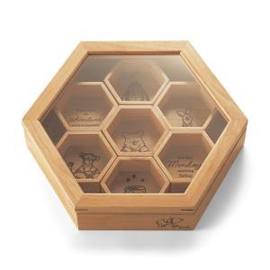 ディズニー 蜂の巣型のアクセサリー収納「くまのプーさん」