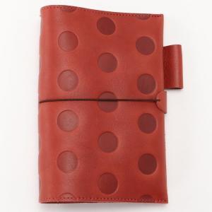 文房具 ステーショナリー キャンディ レザーノートブック[日本製] カラー 「チェリーレッド」