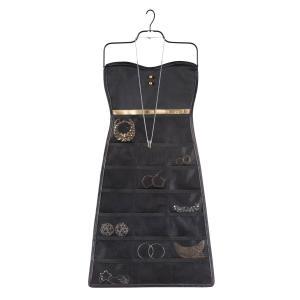 ドレス型アクセサリー収納ケース ブラック
