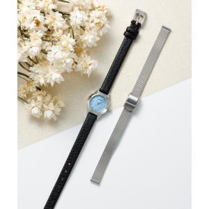 腕時計 レディース ベーリング  BERING Ladies Changes Leather&Mesh 2ストラップセット 11119-407  日本正規代理店品|bellemessage