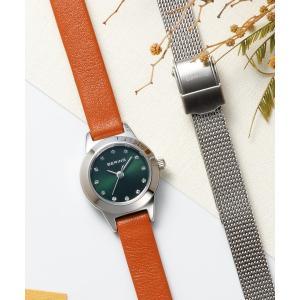 腕時計 レディース ベーリング  BERING Ladies Changes Leather&Mesh 2ストラップセット 11119-509  日本正規代理店品|bellemessage