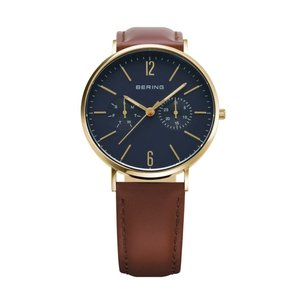 腕時計 レディース ベーリング  BERING  Changes 14236-537  2ストラップセット (ブラウンレザー&ゴールドメッシュ)日本限定品  日本正規代理店品|bellemessage