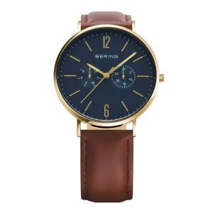 腕時計 メンズ ベーリング  BERING Mens Changes 14240-537 2ストラップセット (ストラップ:ブラウンレザー&ブラックメッシュ)日本限定品  日本正規代理店品|bellemessage