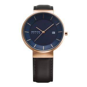 腕時計 メンズ ベーリング  BERING Scandinavian Solar 14639-467 スカンジナビアンソーラー ストラップカラー:ブラック  日本正規代理店品|bellemessage