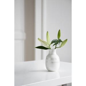 花瓶 陶磁器 北欧 ケーラー Kahler オマジオ フラワーベース Omaggio vase (S) スモール パール 16052 日本正規代理店品 bellemessage