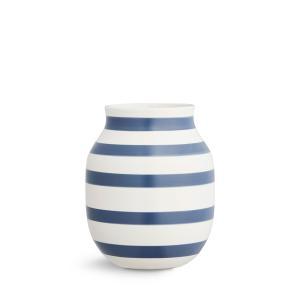 花瓶 陶磁器 北欧 ケーラー Kahler Omaggio Vase オマジオ フラワーベース (M) スチールブルー 17281 花びん 日本正規代理店品 bellemessage