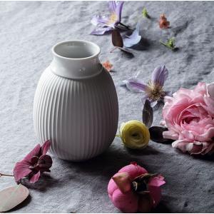 花瓶  北欧 リュンビューポーセリン カーブベース CURVE VASE H12.5cm 200540 ホワイト日本正規代理店品 ギフト|bellemessage