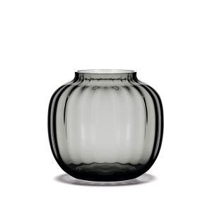 花瓶  北欧 フラワーベース ホルムガード  プリムラ HOLMEGAARD PRIMULA ベース  スモーク 12.5cm 4340393 吹きガラス 日本正規代理店品|bellemessage