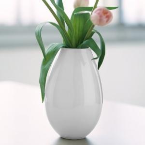 花瓶 ガラス 北欧 ホルムガード HOLMEGAARD COCOON コクーン ベース ホワイト (M)  H20.5cm 4343202 フラワーベース 日本正規代理店品 結婚祝い|bellemessage