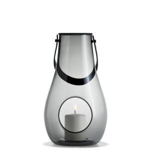 キャンドルランタン ガラス 北欧 ホルムガード  DESIGN WITH LIGHT ランタン スモーク(L) 29cm 4343536 吹きガラス キャンドルホルダー 日本正規代理店品|bellemessage
