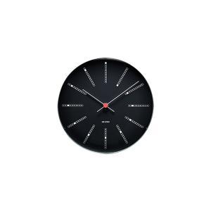 時計 壁掛け アルネ・ヤコブセン  Wall Clock バンカーズ ブラック  210mm  43636 ローゼンダール コペンハーゲン アルネヤコブセン 日本正規代理店品|bellemessage