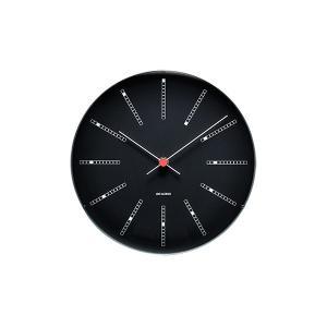 時計 壁掛け アルネ・ヤコブセン  Wall Clock バンカーズ ブラック  290mm 43646 ローゼンダール コペンハーゲン アルネヤコブセン 日本正規代理店品|bellemessage