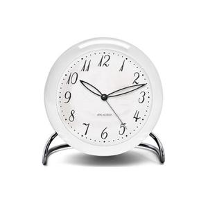 置き時計 アルネ・ヤコブセン テーブルクロック  LK  ホワイト×シルバー 43670 ローゼンダール コペンハーゲン 日本正規代理店品