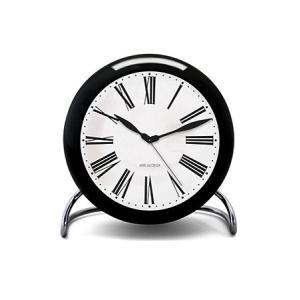 置き時計 北欧 アルネ・ヤコブセン ローマン テーブル クロック  43671 ブラック×ホワイト×シルバー ローゼンダール コペンハーゲン 日本正規代理店品|bellemessage