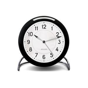 置き時計 北欧 アルネ・ヤコブセン ステーション テーブル クロック  43672 ブラック×ホワイト×シルバー  ローゼンダール コペンハーゲン 日本正規代理店品|bellemessage