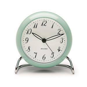 置き時計 北欧 アルネ・ヤコブセン(限定カラー)  テーブルクロック アイスブルー 43681 日本正規代理店品|bellemessage