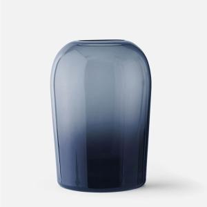 フラワーベース ガラス  MENU メニュー トロールベース Lサイズ ミッドナイトブルー H19cm 4733779  北欧 インテリア 花瓶|bellemessage