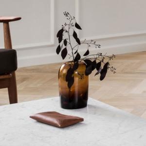 フラワーベース ガラス  MENU メニュー トロールベース Lサイズ アンバー H19cm 4733929  北欧 インテリア 花瓶|bellemessage