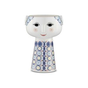 花瓶  北欧 ビヨン・ヴィンブラッド  エバ・ベース ブルー H18cm 56511 日本正規代理店品 ギフト Bjorn Wiinblad|bellemessage