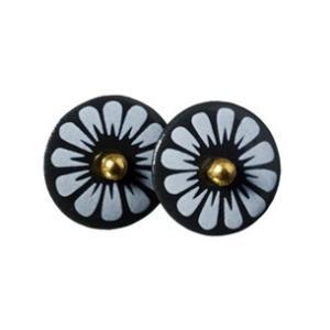 北欧雑貨 アクセサリー 磁器 ピアス シェアニング Scherning BELLIS BLAC FLOWER ブラックフラワー ピンピアス カラー:ブラック BB-1101 デンマーク bellemessage