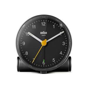 置き時計 ブラウン BRAUN  アナログ アラーム クロック BC01B ブラック|bellemessage