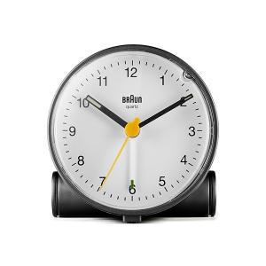 置き時計 ブラウン BRAUN  アナログ アラーム クロック BC01BW カラー:ブラック/ホワイト|bellemessage