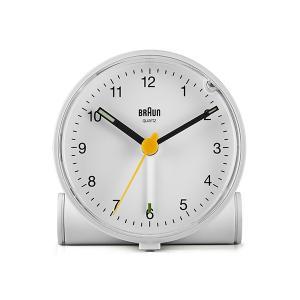 置き時計 ブラウン BRAUN  アナログ アラーム クロック BC01W ホワイト|bellemessage