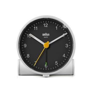置き時計 ブラウン BRAUN  アナログ アラーム クロック BC01WB カラー:ホワイト/ブラック|bellemessage
