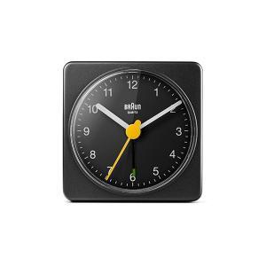 置き時計 ブラウン BRAUN  トラベル アナログ アラームクロック BC02B ブラック|bellemessage