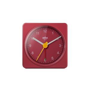 置き時計 ブラウン BRAUN  トラベル アナログ アラームクロック  BC02R レッド 目覚まし時計 日本正規代理店品|bellemessage