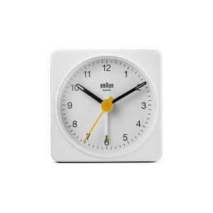 置き時計 ブラウン BRAUN  トラベル アナログ アラームクロック BC02W ホワイト|bellemessage