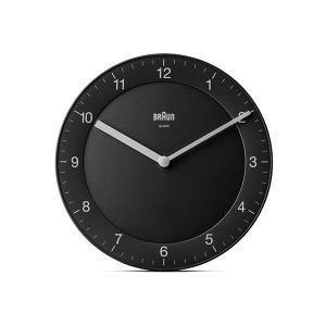 時計 壁掛け ブラウン BRAUN  アナログ ウォールクロック BC06B ブラック|bellemessage