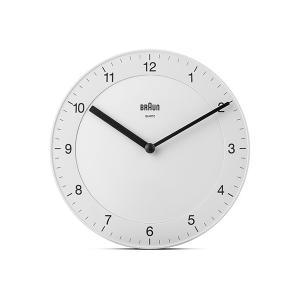 時計 壁掛け ブラウン BRAUN  アナログ ウォールクロック BC06W ホワイト|bellemessage