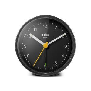 置き時計 ブラウン BRAUN  クラシック アナログ アラーム クロック BC12B カラー:ブラック|bellemessage