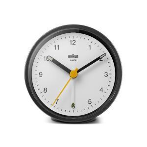 置き時計 ブラウン BRAUN  クラシック アナログ アラーム クロック BC12BW カラー:ブラック/ホワイト|bellemessage