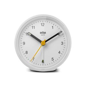 置き時計 ブラウン BRAUN  クラシック アナログ アラーム クロック BC12W カラー:ホワイト|bellemessage