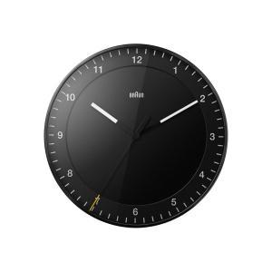 時計 壁掛け ブラウン BRAUN  アナログ ウォールクロック ブラック BC17B 30cm Wall Clock|bellemessage