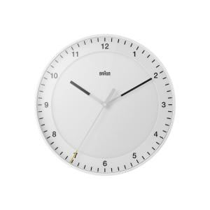 時計 壁掛け ブラウン BRAUN  アナログ ウォールクロック ホワイト BC17W 30cm Wall Clock|bellemessage