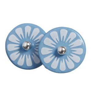 ピアス 磁器 アクセサリー シェアニング Scherning BLUE FLOWER ブルーフラワー スタッドピアス BLU-1101-003 デンマーク bellemessage
