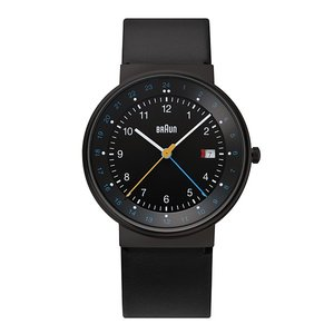 腕時計 メンズ腕時計 ブラウン BRAUN  Watch BN0142 GMT ブラック×ブラック BN0142BKBKG ウォッチ 日本正規代理店品|bellemessage