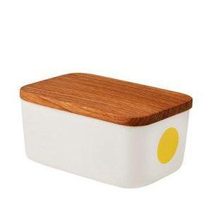 バターケース 北欧 ヘルバック HELBAK  バターボックス DOT butterbox カラー:イエロー 北欧雑貨|bellemessage