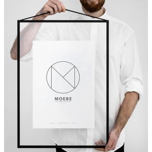額縁 ムーベ  フレーム A2 MOEBE FRAME Black ブラック  FABA2 壁掛け 写真 ポスター 北欧|bellemessage