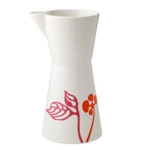 ピッチャー 陶器 ヘルバック HELBAK FLOWER Pitcher large (L) H:25cm 1000ml  カラー:ピンク&オレンジ FL22-02 花瓶 北欧雑貨 ハンドメイド|bellemessage