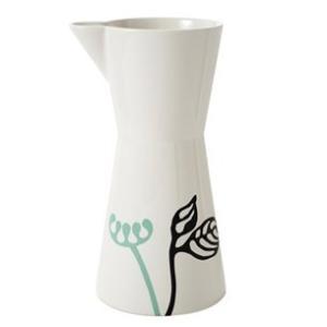 ピッチャー 陶器 ヘルバック HELBAK FLOWER Pitcher large (L) H:25cm 1000ml カラー:ミント&ブラック FL22-03 北欧雑貨 ハンドメイド 花瓶|bellemessage